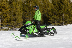 Photo of snowmobiler enjoying their sport